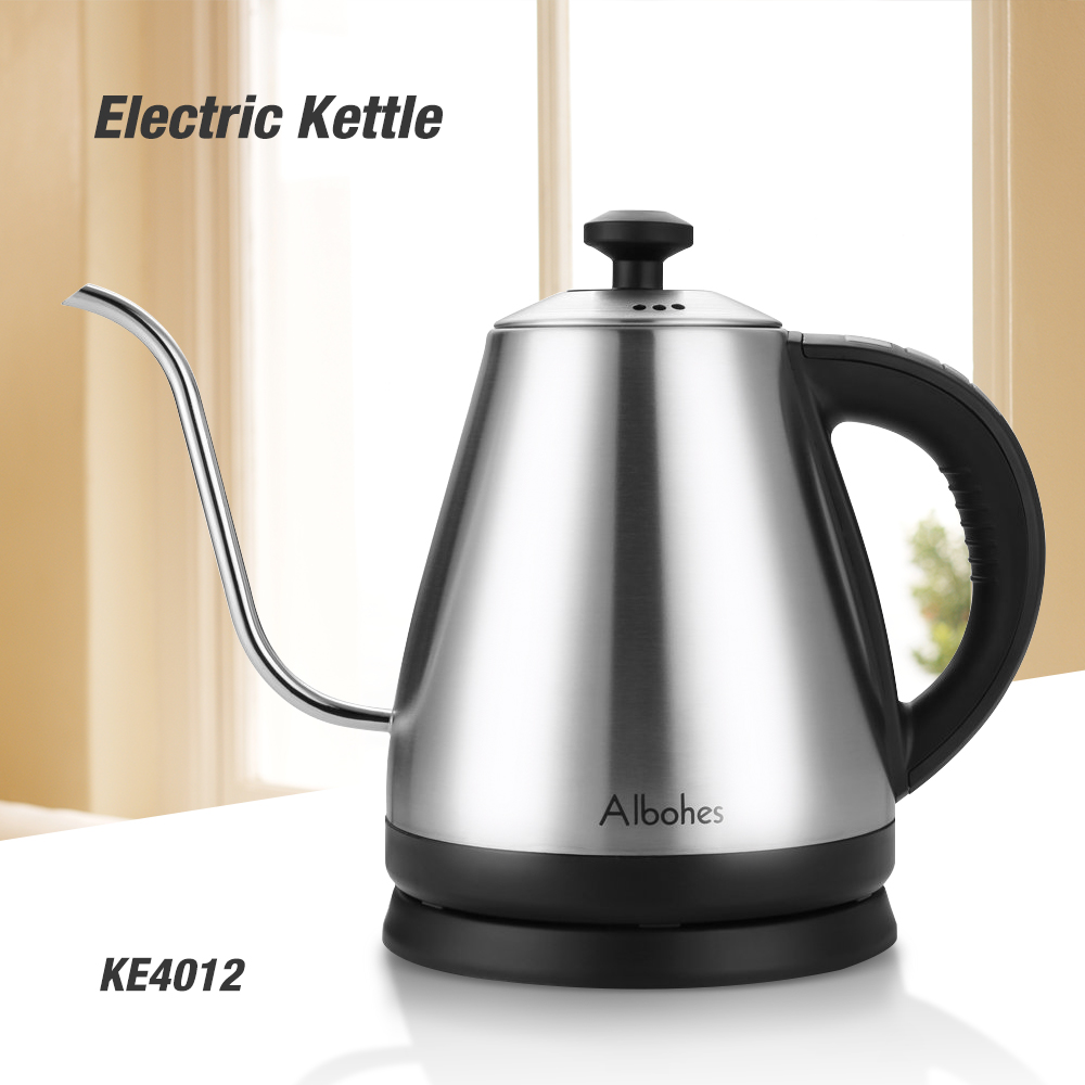 ALBOHES Electric Kettle 1L 304 Stainless Steel Smart Constant Temperature Control Water Kettle Boiler Quick Heating Appliance цена
