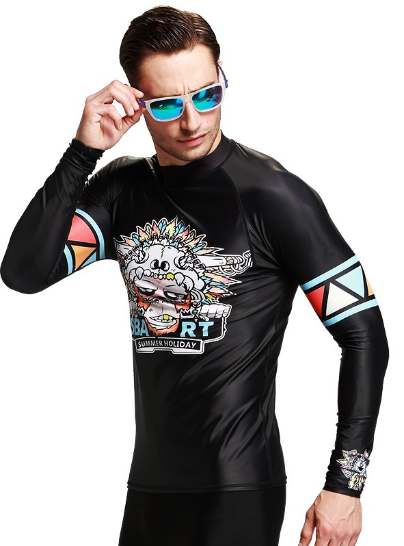 Sbart Rash Guard Men Rashguard Swimsuit For man Wind Surf Windsurfing Korea Bathing Suits 2017 New Sexy Long Sleeve
