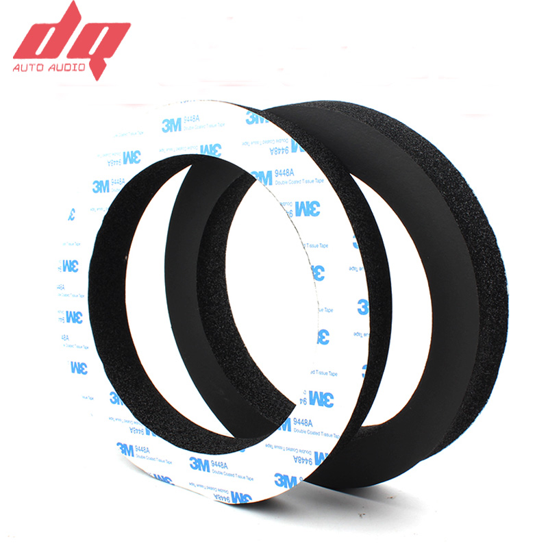 2pcs 6.5 Inch Car Speaker Ring Bass Door Trim Sound Insulation Cotton Audio Speakers Sound Self Adhesive Insulation Ring