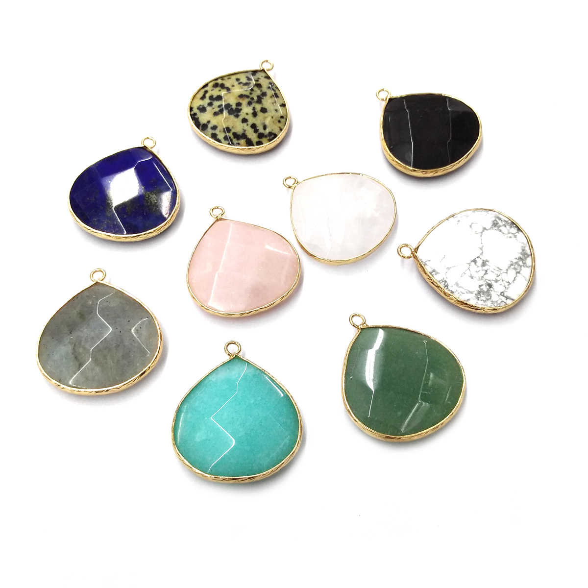 Natural Stone Agates Pendant Charms Pendants for Jewelry Making DIY Necklace Size 29x33mm