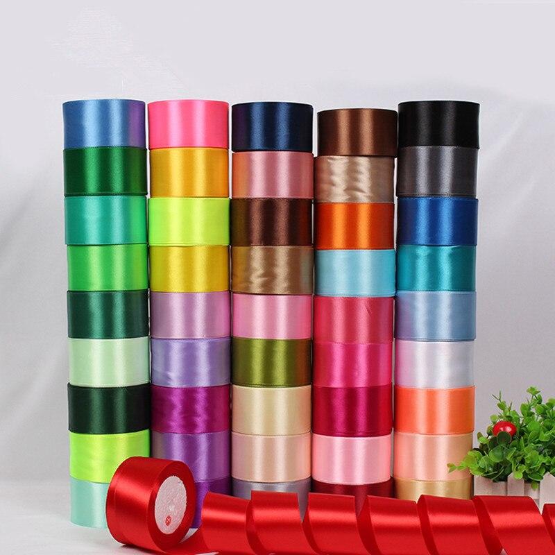 Ручная работа по шитью Художественная ткань тканевая лента см 5 см ширина атласные ленты Свадебная вечеринка украшение подарок ремесло-1 ярд/шт