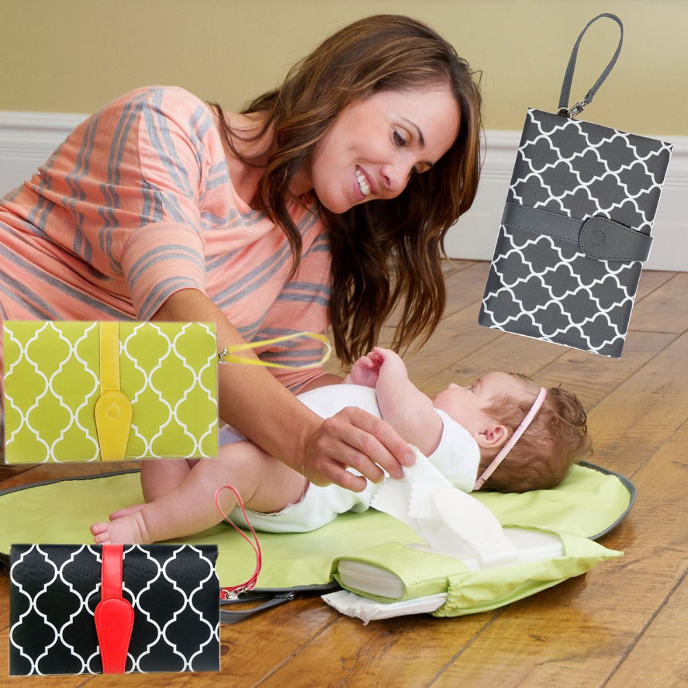 Waterproof Portable Baby Diaper Changing Mat Nappy Changing Pad Travel Table  Changing Children Mattress Foldable Diaper Mat