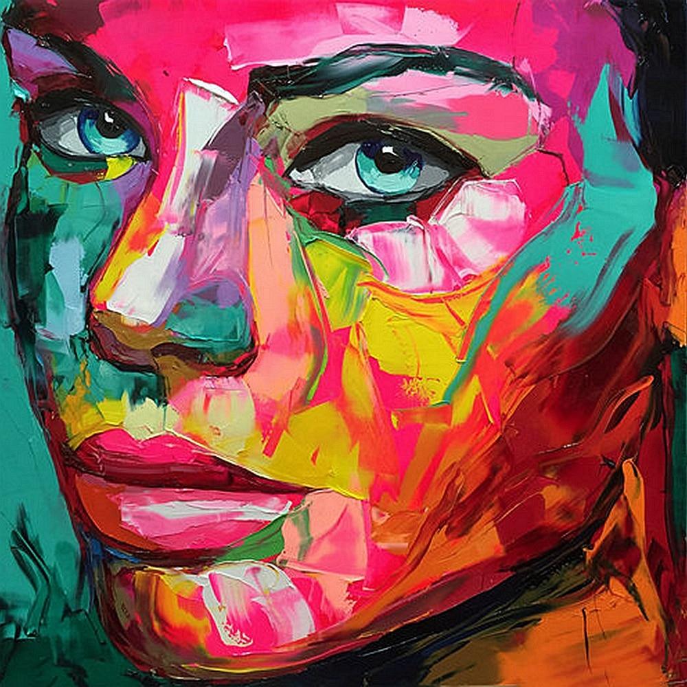 Multicolore Abstrait Visage Couteau Huile Affiche Imprime Toile Peinture Pour Salle à Manger Mur Art Maison Décoratif Toile Imprimé Illustration Aliexpress