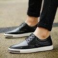2016 Handmade de 100% Couro Genuíno Dos Homens Oxfords Shoes, Tamanho grande Homens de Negócios Sapatos Casuais, Sapatas Dos Homens da marca, homens Se Vestem Sapatos