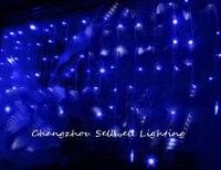 GREAT!Christmas light showcase decoration 1*2m blue snow LED star lamp H274