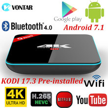 Q Plus 3 GB/32 GB 2 GB/16 GB Amlogic S912 Octa Core Android 7.1 TV CAJA de 2.4G/5 GHz Dual WiFi BT4.0 Cargar Completamente 4 K Reproductor Multimedia Inteligente