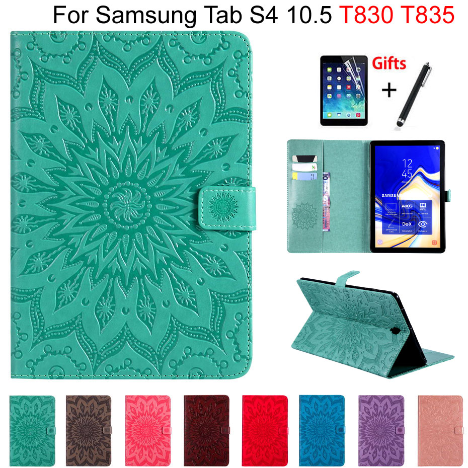 3D Sunflower Case Cover For Samsung Galaxy Tab S4 10.5 T830 T835 SM-T830 SM-T835 10.5