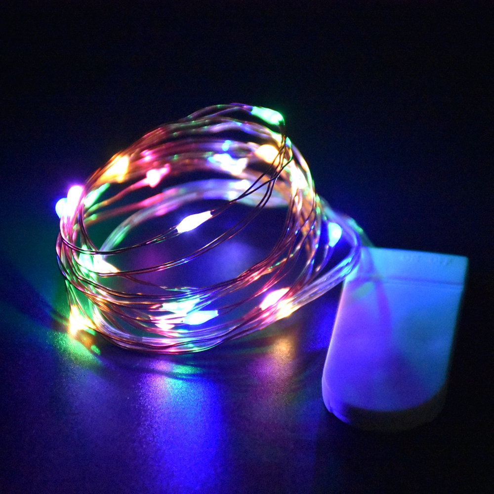 1M 10 LEDs Christmas Garland Copper Wire LED String Lamp Fairy lights For Indoor New Year Xmas Wedding Decoration