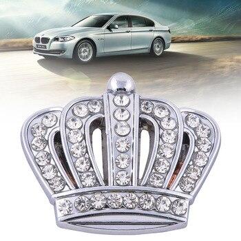 Car Styling Rhinestone Metal Crown Emblem DIY Silver Sticker Auto Side Sticker Decal Crystal Crown Badge Car Decoration stuffed toy