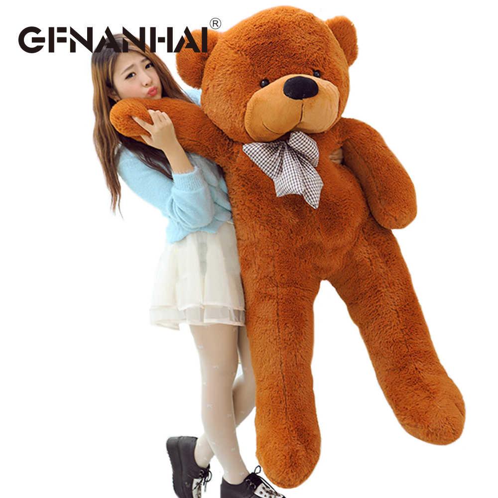 1 шт. 180 см/71 дюймов Полуфабрикаты медведь Медвежья шкура плюшевые игрушечный плюшевый Медвежонок пальто куклы 3 цвета для детей подарок на день рождения