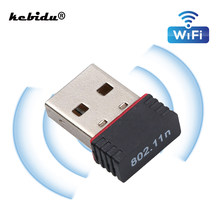 Kebidu 150 Mbps Mini USB WiFi adaptateur MT7601 802.11 B/g/n Wi-Fi Dongle antenne sans fil à Gain élevé Wifi pour PC ordinateur portable(China)