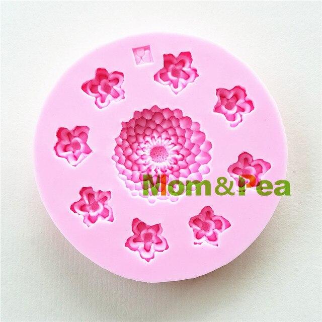 Mom Pea 0976 Freies Verschiffen Kleine Blumen Geformte Silikonform