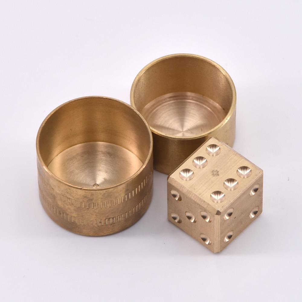 Bronze Mental Die Close Up Truque Previsão Dados Cypher Previu Truques de Mágica Magia Adereços Comédia Metalismo Brinquedos Clássicos