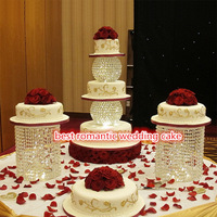 Wedding supplies crystal ball acrylic cake stand dessert table metal cake decoration ornaments