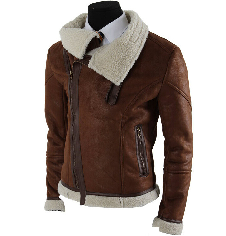 Black/Brown Faux Leather Motorcycle Jacket Mens Fashion Men's ...