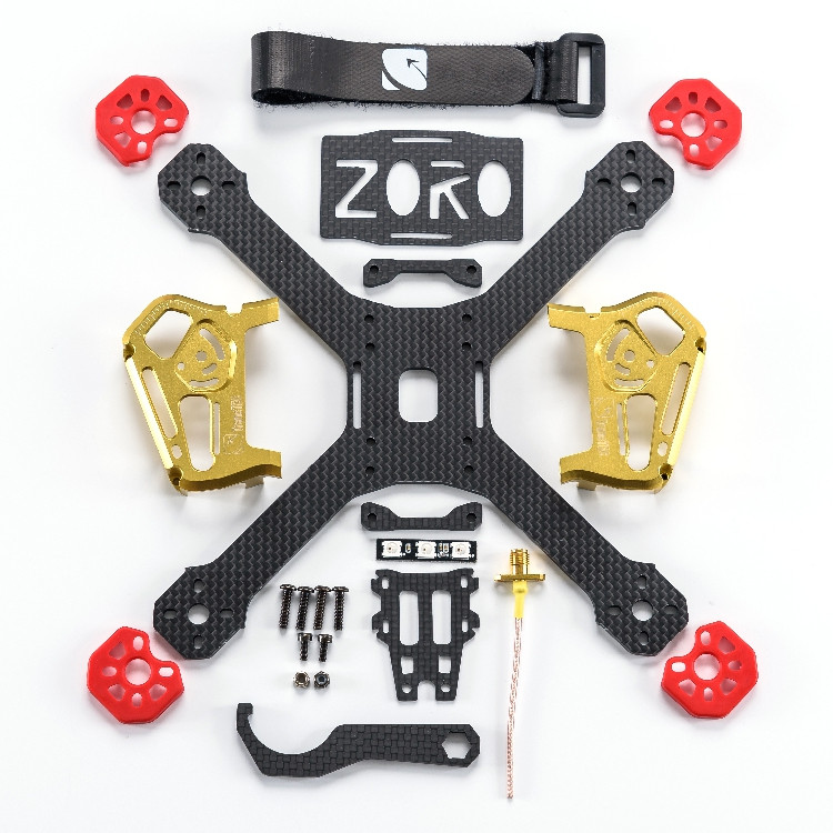 Feichao ZORO 195 / 220 V2 FPV Racer Rack Frame CNC Full Metal Case Zoro Race / Lite sana habib syeda qamar nayab batool and shagufta naz callogenesis