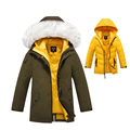 Kids Winter Coat Jacket Boys Duck Down Jacket Removable Liner Warm Raccoon Fur Collar Girls Parka Coat Children Outerwear DQ128