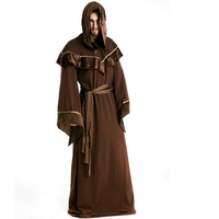 Halloween male clothing Gothic wizard clothing European religious men monks take film role play
