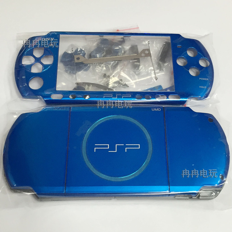 New Version for PSP3000 PSP 3000 Game Console replacement full blue color housing shell cover case with button kit free shipping