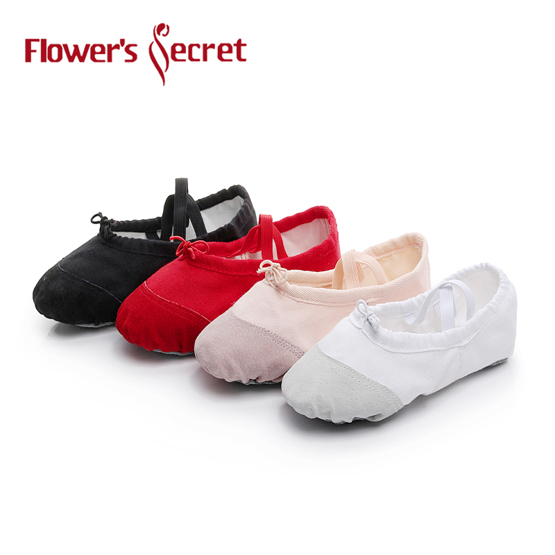 Flower's Secret Ballet Slippers For Girls Classic Split-Sole Canvas Dance Gymnastics Yoga Shoes Flats Dance Shoe Ballerina