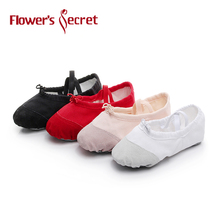Flower's Secret Ballet Tøfler For Girls Klassisk Split-Sole Canvas Dance Gymnastik Yoga Sko Flats Dansesko Ballerina
