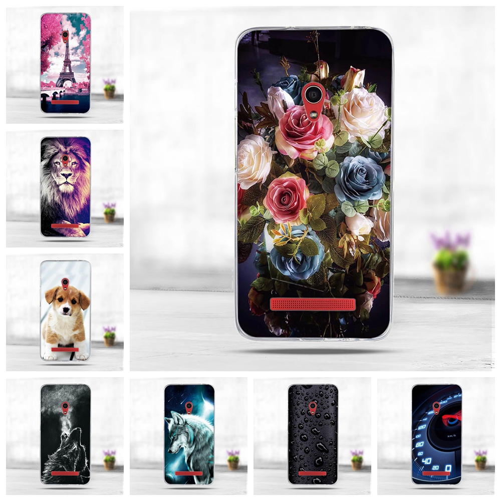 Luxury 3D Soft Silicone TPU Shell For <font><b>Asus</b></font> <font><b>ZenFone</b></font> <font><b>5</b></font> A500CG <font><b>A501CG</b></font> A500KL <font><b>Case</b></font> 3D Cute Animal Back Cover Painting Phone <font><b>Cases</b></font> image