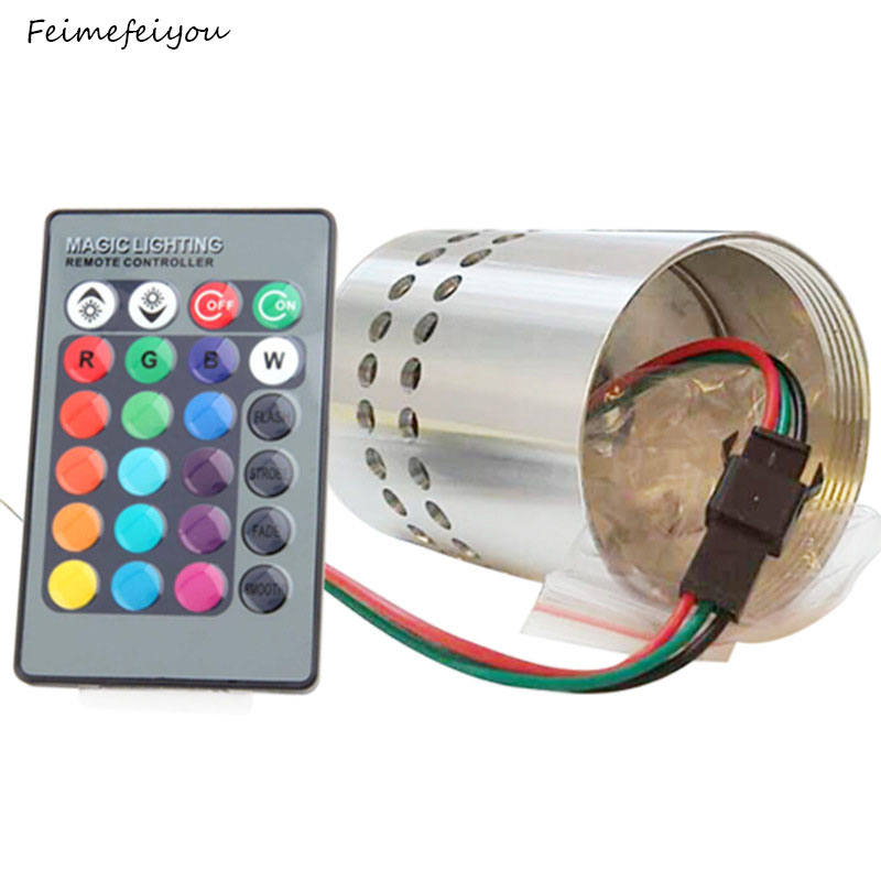 3W Colorful With Remote Control Led Aluminum Spiral Hole Wall Lamp Living Room Bedroom Bedside Lamp Bar KTV Corridor Lights