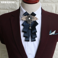 ROKEDISS 2017 Fashion Bow Tie Male Marriage Handmade Groom Best Man High End Bow Tie British