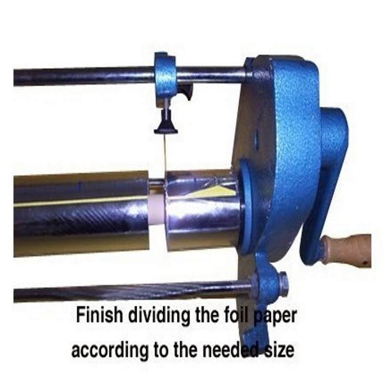 Hot stamp foil paper rolls cutter cutting machineHot stamp foil paper rolls cutter cutting machine