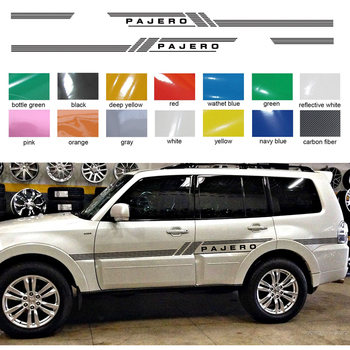 customize for mitsubishi pajero sport stickers 2pc cool car side door stripe styling graphic vinyls accessories modified decals front lip for lexus gs350