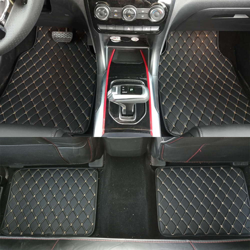ZHAOYANHUA Universal Car floor mats Pu Leather and XPE material Front Rear car styling waterproof carpet