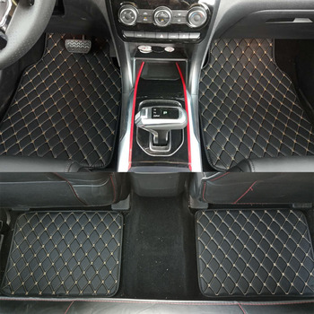 ZHAOYANHUA Universal Car floor mats Pu Leather and XPE material Front Rear car styling waterproof carpet floor mats image