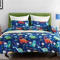 Dinosaur Family Bedding Set for Kids Cartoon Bed Cover Single Boys Duvet Cover Set Jurassic Printed Bedclothes Home Decoration