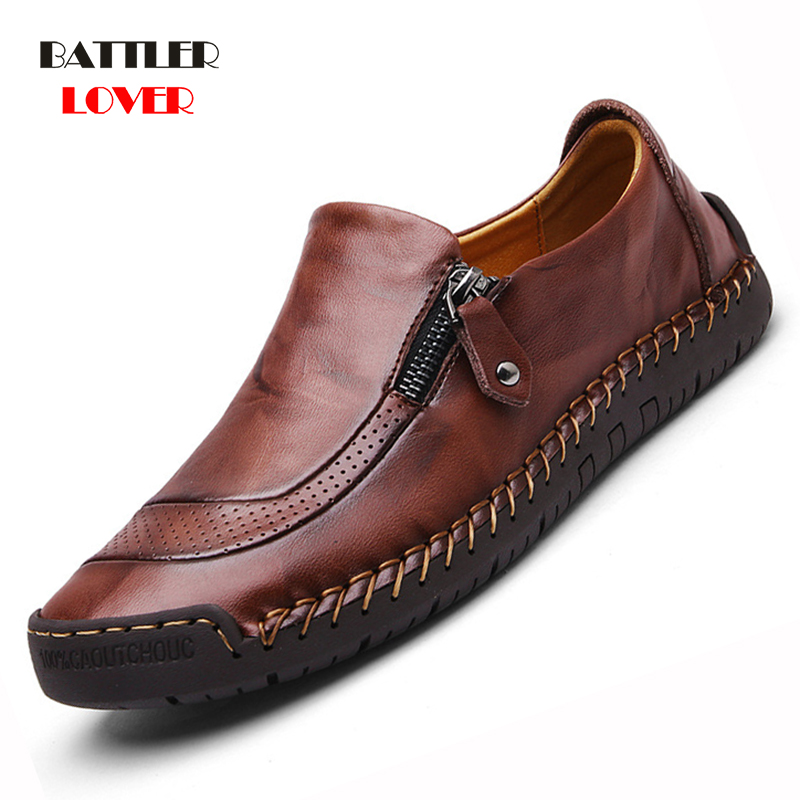 Mens Casual Shoes Fashion Men Loafers High Quality Leather Shoes Genuine Leather Men Shoes Oxford Moccasins Shoe Plus Size 38-48
