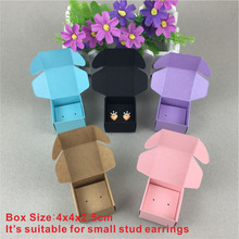 100Set stud earrings card Kraft Jewelry Box&Jewelry Cards Jewelry Displays Packaging Jewelry Set /Hand Made Gift Boxes