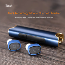 2017 Real Earphone Tws Wireless Dual Ear Bluetooth Headset With Rechargeable Mini Miniature Pair Of Movement Into Earplug