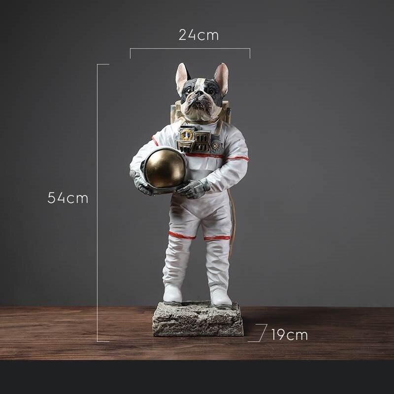 Moderne astronaute Sculpture résine chien Statue Spaceman abstraite Figurine décoration de la maison accessoires artisanat décor R737