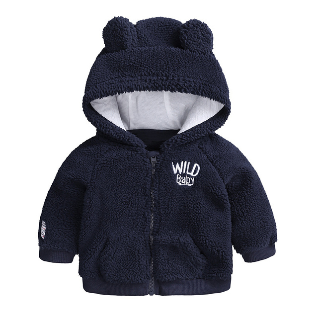 Baby Boys Coat 2018 Autumn Winter Jacket For Baby Girls Jacket Kids Warm Fleece Hooded Outerwear Coat For Infant Newborn Clothes