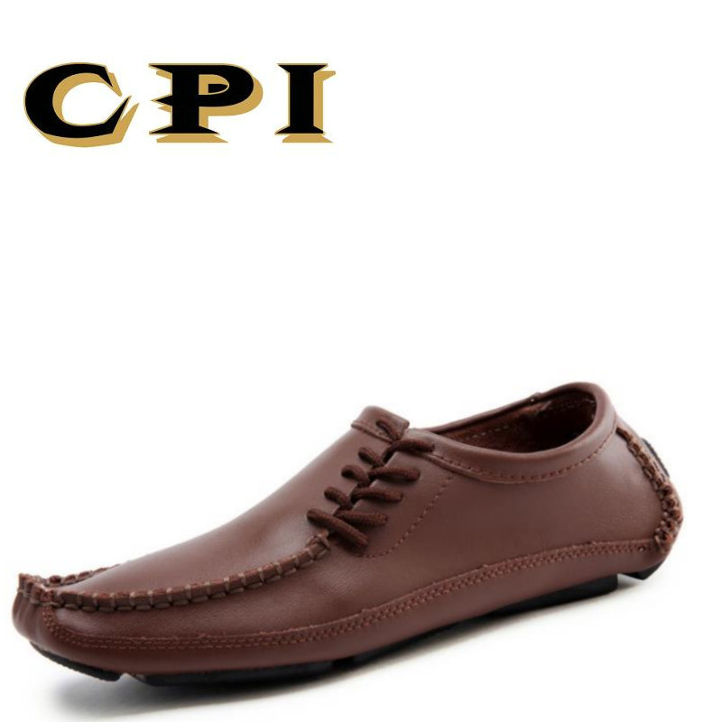 CPI New Mens casual leather shoes Fashion design British Style Comfortable Breathable All-match large size shoes DD-04
