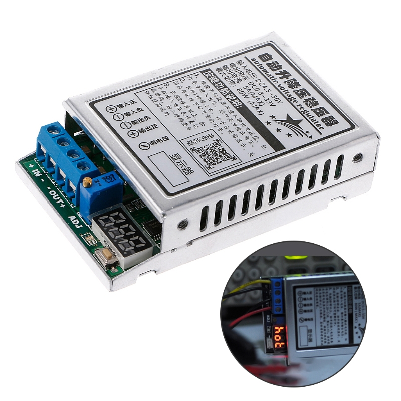 DC-DC Automatic Step Up and Down Regulator Module Stabilizer 5A/80W Power Module