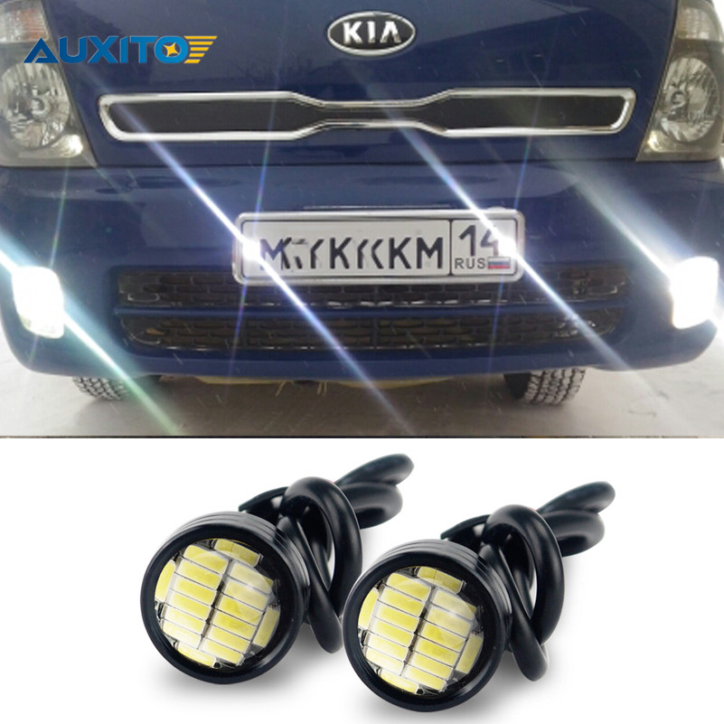 For Kia Rio K2 Ceed Sportage Sorento Cerato Soul Picanto Optima K3 Spectra Carnival K5 LED Eagle Eye DRL Daytime Running Light custom fit car floor mats for kia rio k2 spectra cerato forte k5 optima k3 kx3 sportage kx5 sorento 3d car styling carpet liners