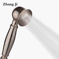 ZhangJiทองแดงชุบสแตนเลสมือถือหัวฝักบัวห้องน้ำขนาด