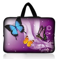 Free Shipping Purple Butterfly 15 Laptop Carry Bag Case Cover For 15 6 Dell Inspiron HP