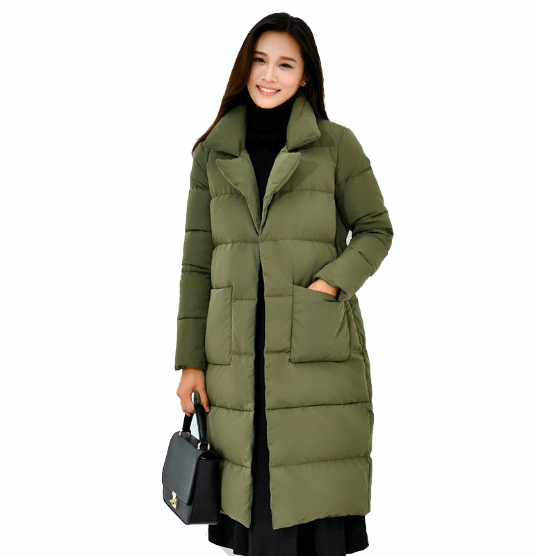 Women Winter Long Jacket 2017 Brand Clothing Parkas Women White Duck Down Padded Coat Winter Thick Warm Quilted Jacket Femme russia winter boys girls down jacket boy girl warm thick duck down