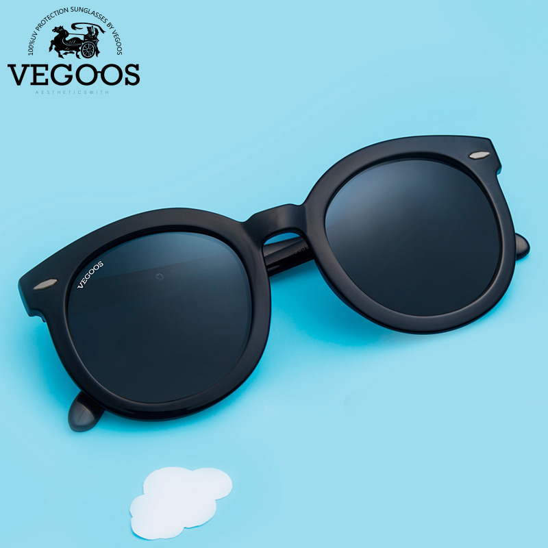 VEGOOS Στρογγυλά Γυαλιά Ηλίου Γυναικεία Vintage Polarized UV400 Designer Trending Retro Circle Shades Glasses for Ladies # 9059