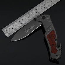 Jeslon BROWNING X42 Multitools Self-defense Folding Knife Mini Pocket Outdoor Camping Tactical Survival Knife with Bottle Opener
