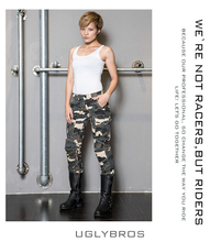 Uglybros light camouflage leisure riding pants motorcycle knees protection jeans motocross motorcycle pants women moto jeans