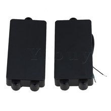 Yibuy 2pcs Black Closed Type Double Coil Humbucker Pickups Bridge and Neck Set for 4 String Electric Bass Guitar Parts