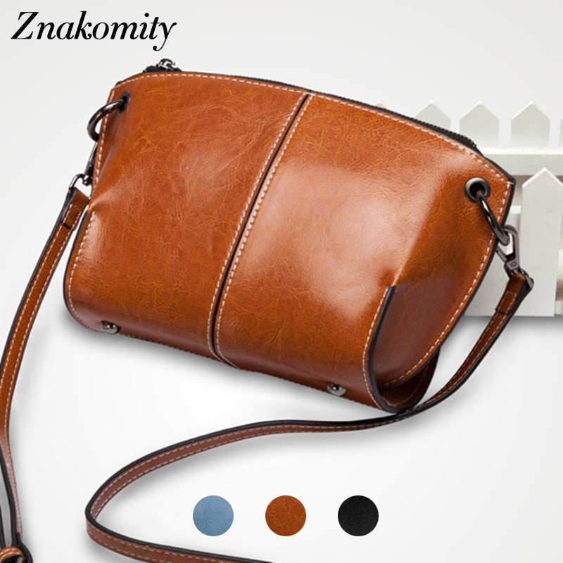 все цены на Znakomity Small shell shape make up messenger bag genuine leather Shoulder bag women fashion Female cowhide bag crossbody women