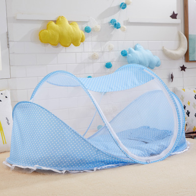 Baby Bedding Crib Netting Folding Baby Music Mosquito Nets Bed Mattress Pillow Three-piece Suit For 0-2 Years Old Children mattress